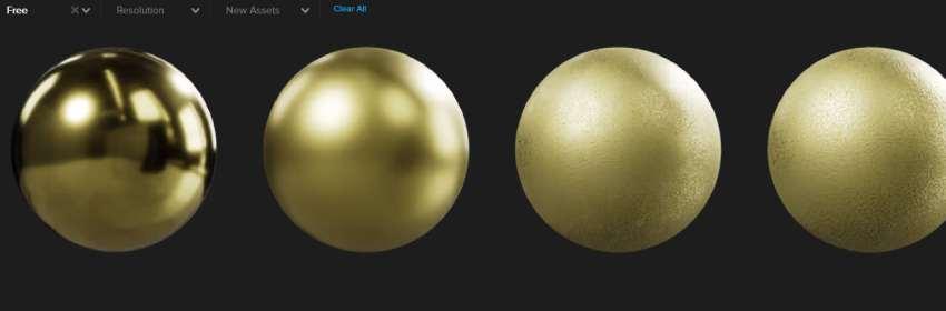textura oro de metal dorado para blender