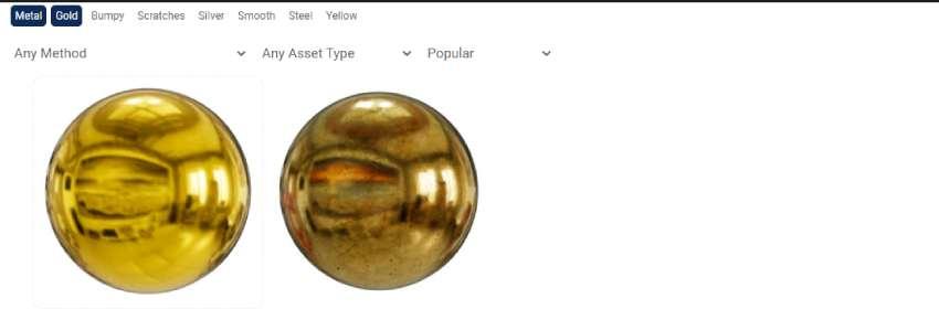 textura oro para blender
