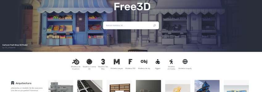 Descargar modelos de Blender en free3d