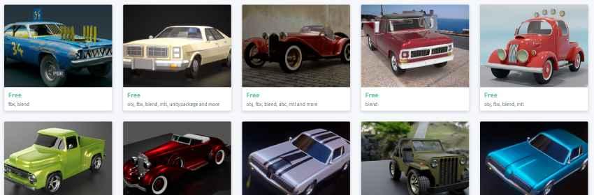 Modelos 3d gratis de coches clásicos para diseñadores