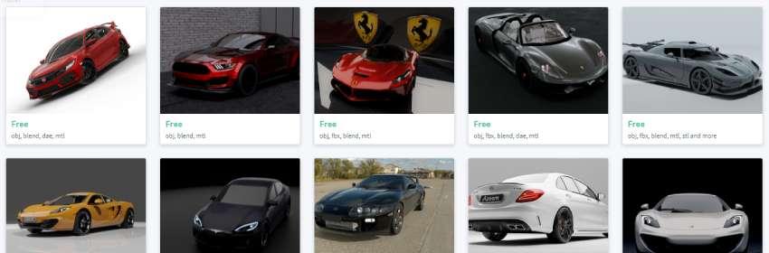 Modelos gratis de coche deportivo para descargar de diseño 3d