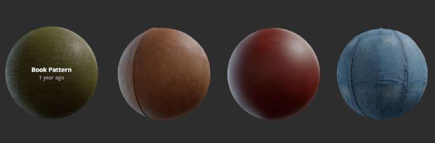 Tejidos sintéticos variados para modelado en Blender