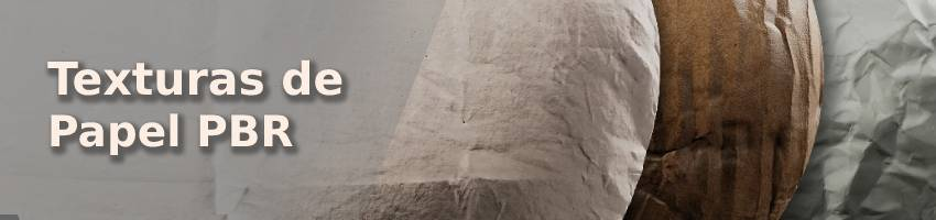Textura de papel y cartón BPR para Blender