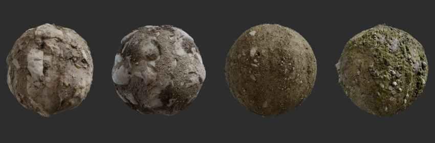 Textura de tierra pedregosa y rocosa para blender