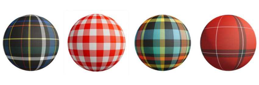 Texturas de tartán escocés para modelado 3D en Blender