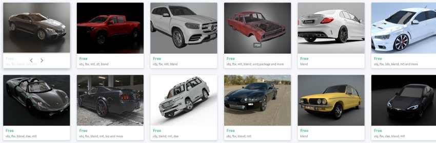 modelos 3d de autos para diseño digital