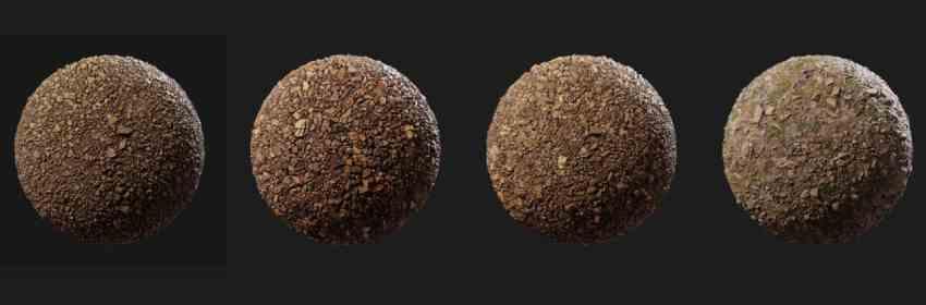 textura bpr para suelo de tierra con piedras