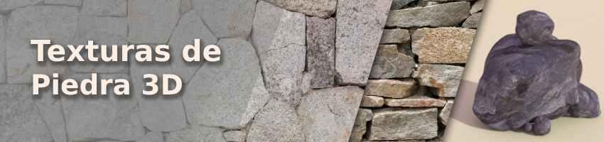 texturas bitmap de piedra para Blender