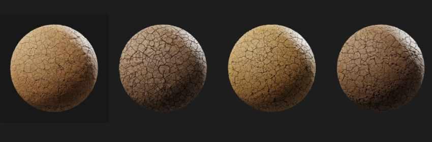 texturas de tierra agrietada para dender y modelado 3D