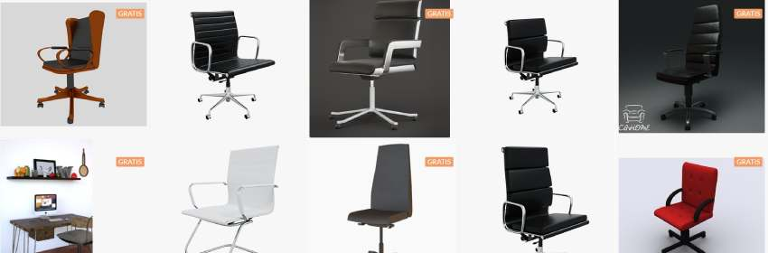 Modelos 3D gratuitos de sillas para ordenador