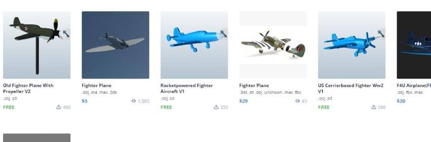 Modelos 3d de aviones de combate para blender