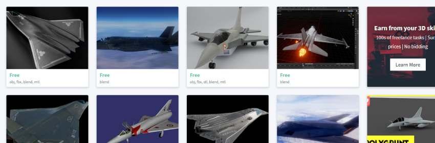 modelados digitales de aviones de guerra gratis para blender