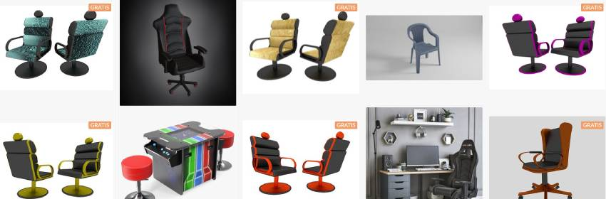 modelo para blender se sillas gaming para streamer en 3D