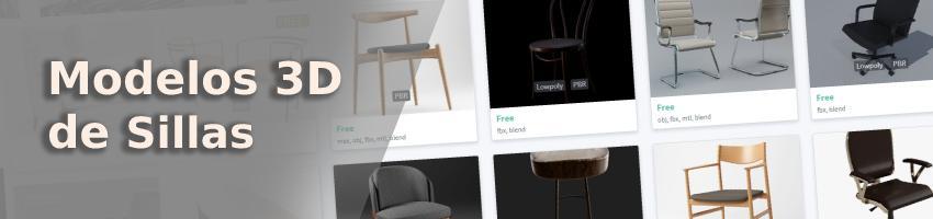 modelos 3d de silla