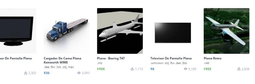 modelos 3d gratis de aviones cargo