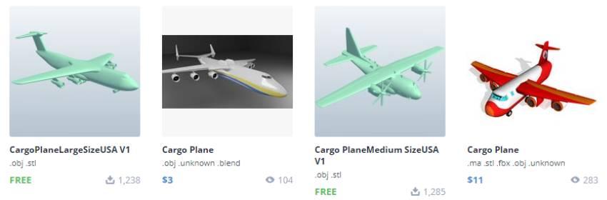 modelos gratis de aviones militares 3d para blender